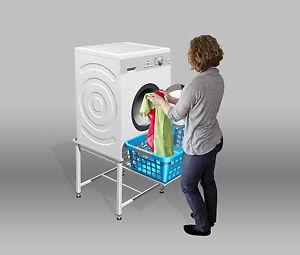 Waschmaschinen Untergestell Podest Sockel Unterbau 50cm Waschmaschinensockel
