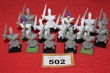 Games Workshop WARHAMMER Marauder ELFI ELFO OSCURO Guerrieri x15 Reggimento Esercito fuori catalogo