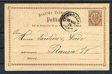 Ganzsache Deutsche Reichs-Post 1/2 Groschen Crimmitschau-Plauen - b4071