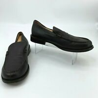 J. Crew Leather Loafers Mens Size 12 Dark Brown Slip On Casual Dress Shoes