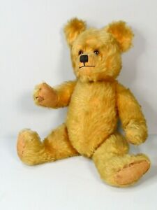 """Antique 1930's FARNELL Gold Mohair Vintage Teddy Bear 16""""  with Growler - Lovely"""