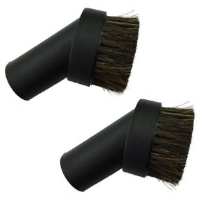 2x VACUUM DUST BRUSH Shop Vac Ridgid Kirby Tool Attachment 1 1/4 inch Horse Hair