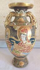 ancien grand vase Satsuma Japon signé