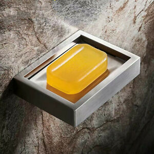 Brushed Nickel Soap Dish Holder Bathroom Soap Rack Hardware 304 Stainless Steel