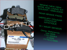 D-899 BRAND New OEM COUGAR CONTOUR MYSTIQUE 1999-02 REAR Brake Pads XS7Z-2200-BA
