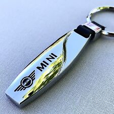 NEW MINI COOPER WING LOGO METAL CHROME KEYCHAIN KEY-CHAIN Key Ring KC021