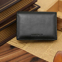 Men's Thin Leather Wallet Bifold ID Credit Card Holder Mini Purse Money Clip