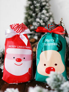 2020 NEW Red Green Christmas Deer Party Gift Drawstring Packing Stocking Bags