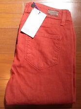 Paige Women USA Vintage Stretch Red Pink Jean Pant 26 $190
