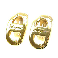 Auth Salvatore Ferragamo Earring Ladies used J17244