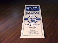 JUNE 1937 DOMINION ATLANTIC LAND OF EVANGELINE ROUTE SYSTEM PUBLIC TIMETABLE