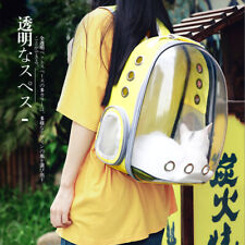 Full Clear Cat Dog Pet Double Shoulder Bag Backpack Travel Carrier Space Capsule