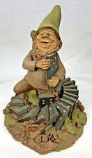 "Tom Clark Gnome Fats with Dominoes #1100 Edition #57 Cairn Studio 6.25"" Coa"