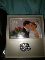 "New In Box 25th Anniversary Gift Frame Holds 4"" X 6"" Photo Silver Color"