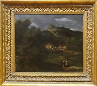 17th Century Italian Old Master Landscape Classical Painting Dughet Poussin