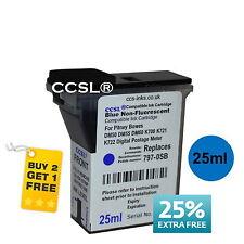 Pitney Bowes Blue Compatible Franking Ink Cartridge DM50 DM55 DM60 K700 K722