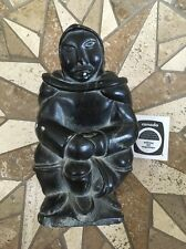 CANADIAN INUIT STONE SCULPTURE CARVING signed Potogok Pov 107458 WITH APPRAISAL