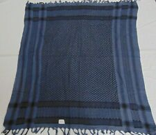 black &light blue66 Scarf Arab Arafat  Shemagh Cotton Palestine Kefiyyeh