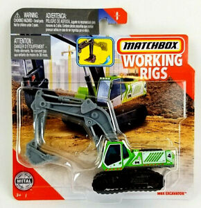 Matchbox Real Working Rigs 2019 Green MBX Excavator