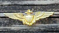 Vintage US Military Navy Marine Corp Naval Aviator Pilot Wings Lapel Hat Pin