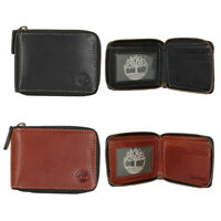 Timberland Men's Genuine Leather Cavalieri Zip Around Wallet