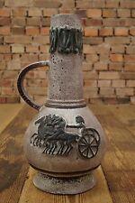 50s GERMAN CERAMIC BODENVASE Krug POTTERY Mid Century Steingut Vase Rockabilly