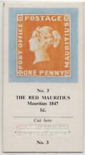 """Vintage Trade Ad Card 1847 """"Post Office"""" Mauritius 1d Postge Stamp"""