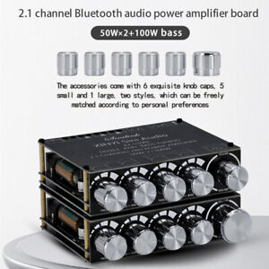 S100H/L HIFI Bluetooth 5.0 Stereo Audio Amplifier Board 2.1 Channel 50WX2+100W