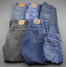 Boy's 6 Pair Lot Jeans Levi's Old Navy Faded Glory  Size 12