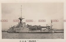 "Royal Navy Real Photo Postcard. HMS ""Erebus"" Monitor. Two 15 in guns. Fine! 1934"