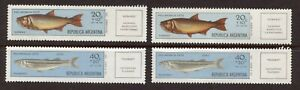 ARGENTINA 1971, FISH, Scott B54,CB42, 2 SETS: 1 SET MNH, 1 SET MINT, V.L. HINGE