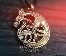 Viking Fenrir Wolf Knot Pendant --- Norse/Celtic/Medieval/Bronze/Amulet/Skyrim