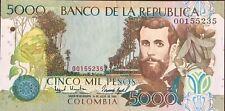 Colombia 5,000 pesos July 01, 1995 #442a UNC