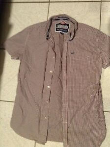 Mens Superdry checked short sleeeve shirt size M