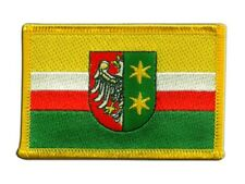 Polen Woiwodschaft Lebus Aufnäher Flaggen Fahnen Patch Aufbügler 8x6cm