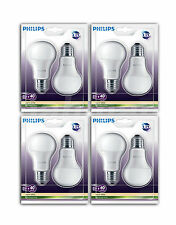 8xphilips Lámpara Led E27 sustituido 40w 470lm 15000h MATE 6kwh/1000h Blanco