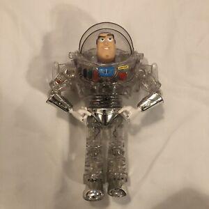 Disney Toy Story Buzz Lightyear Interstellar Clear Thinkway Toy - NOT Working