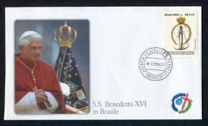 23812) Vatican 2007 FDC Pope Benedict XVI IN Brazil 12.5.2007
