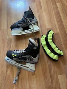 Graf lce skate shoes SIZE 8 UK or 42 EU Black