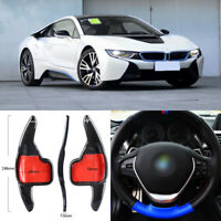 Carbon Fiber Gear DSG Steering Wheel Paddle Shifter Cover Fit For BMW i8 2016-18