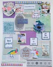 Junk Journal Kit Scrapbooking Supplies, Die Cuts, Pictures, Quotes, 40 Items