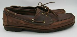 Gokey for Orvis 12 D Brown Leather Boat Shoes Camp Moccasins Sauvage USA
