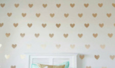 30 gold colour Hearts Love vinyl wall art sticker room decor decals wallart