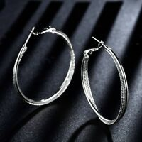 Large Hoop Jewellery Silver Gold Filled Women Fashion Dangle Earrings Jewellery