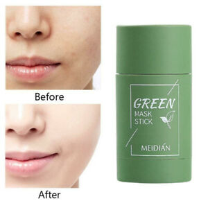 Green Tea Purifying Clay Stick Mask Oil Control Anti-Acne Eggplant Fine Solid ~