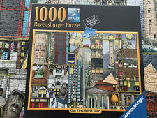 """Ravensburger Jigsaw Puzzle 1000 Wild and Crazy """"Our First World Tour"""""""