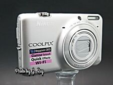 NIKON CoolPix S6500 Silver Mechanically Reconditioned Digital Camera WiFi