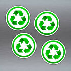 Reduce Reuse Recycle Green Vinyl Stickers Set Of 4 X 45mm Conservation Symbols