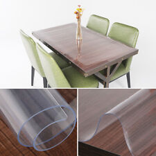 Clear Pvc Transparent Desk Protector Tablecloth Table Cover Mat Pad Waterproof