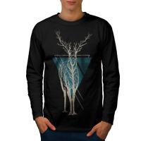 Wellcoda Nature Tree Art Animal Mens Long Sleeve T-shirt,  Graphic Design